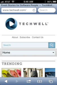 TechWell on mobile